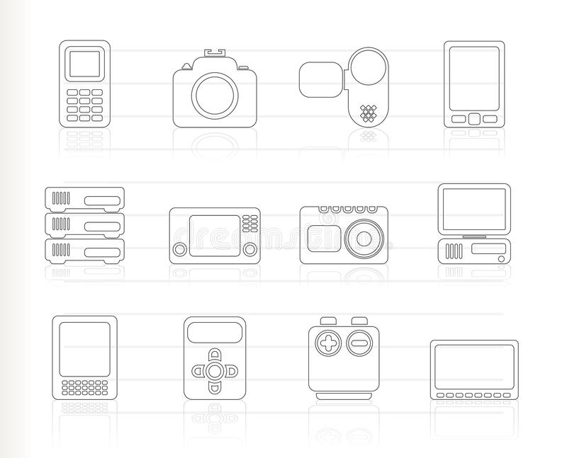 Download Technical, Media And Electronics Icons -  Ic Royalty Free Stock Photos - Image: 16487348