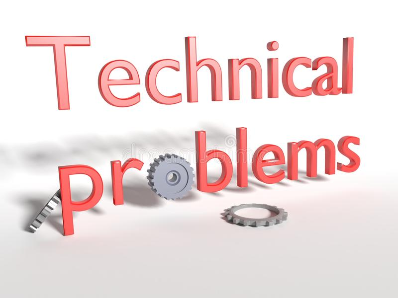 Technical problems. royalty free stock photos