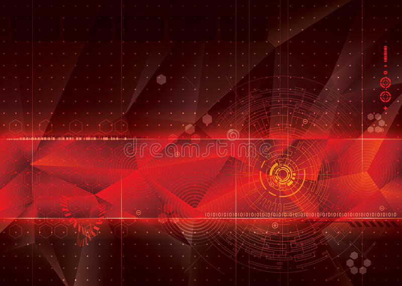 Technical Red Background. stock photos