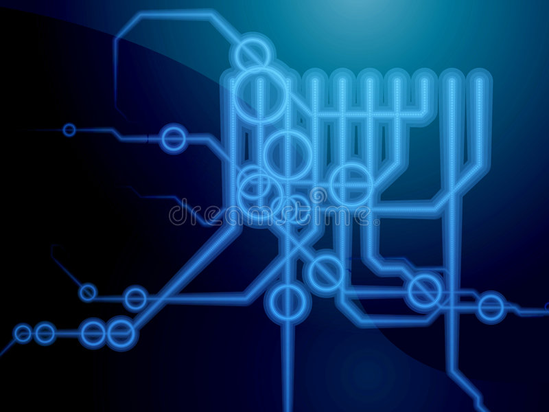 Technical Schematics Royalty Free Stock Image