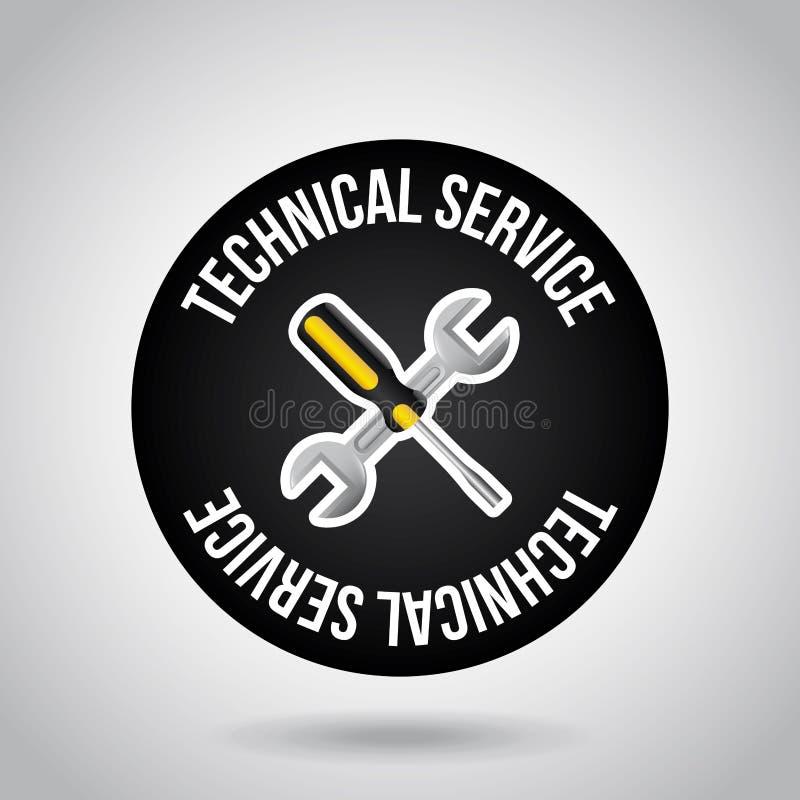 Technical service design vector illustration