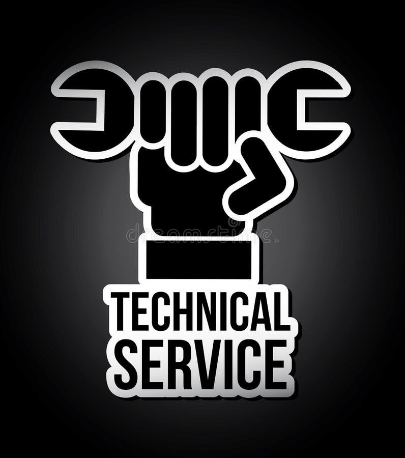 Technical service vector illustration