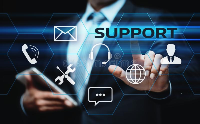 Technical Support Center Customer Service Internet Business Technology Concept.  royalty free stock images