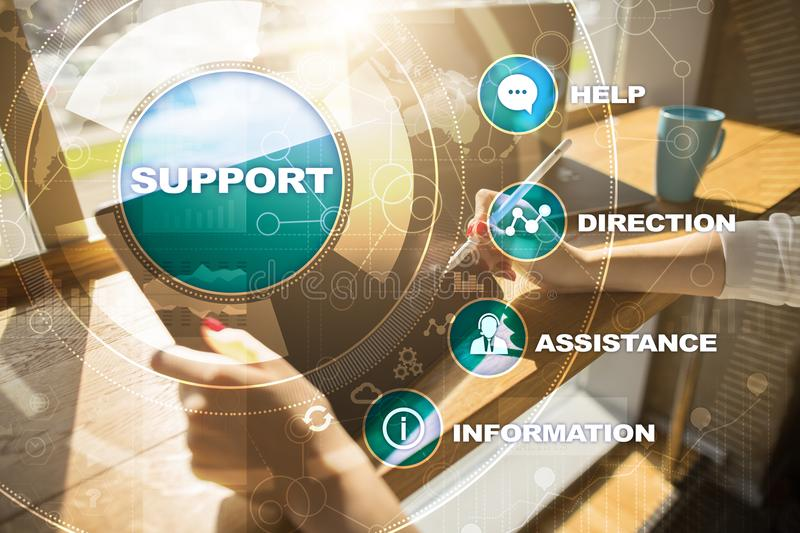 Technical support. Customer help. Business and technology concept. Technical support. Customer help. Business and technology concept royalty free stock image