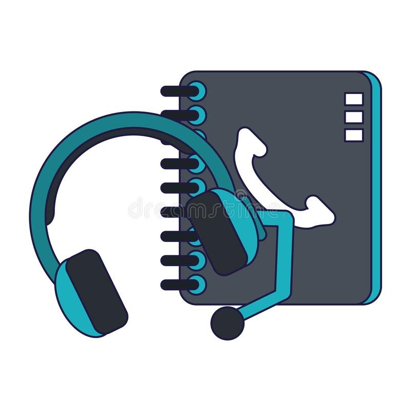 Technical support and customer service blue lines stock illustration