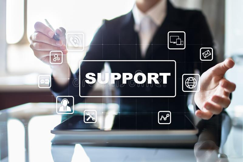 Technical Support and Customer Service. Business and Technology concept. stock photography