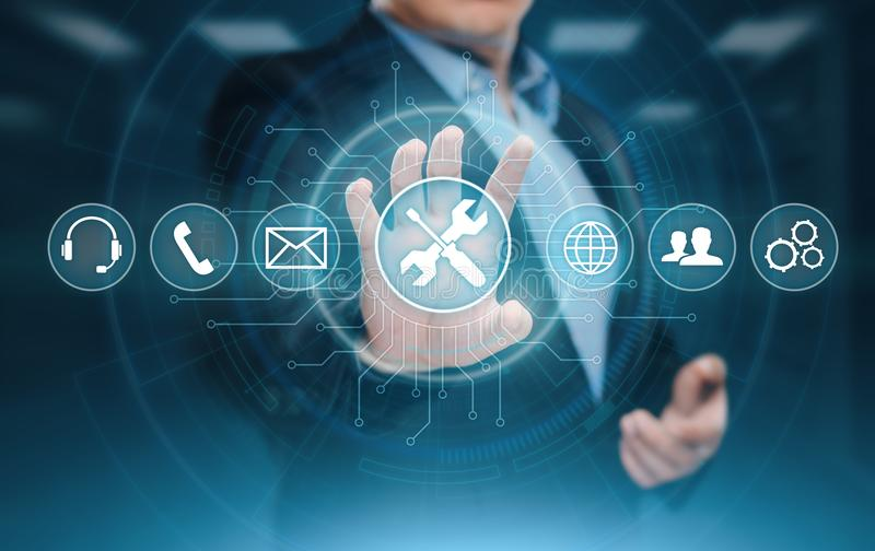 Technical Support Customer Service Business Technology Internet Concept.  stock image