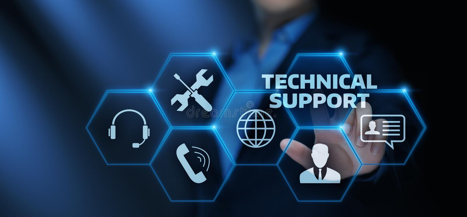 Technical Support Customer Service Business Technology Internet Concept stock illustration