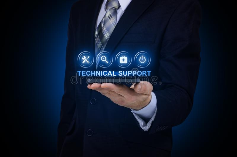 Technical Support Customer Service Business Technology Internet Concept. royalty free stock image