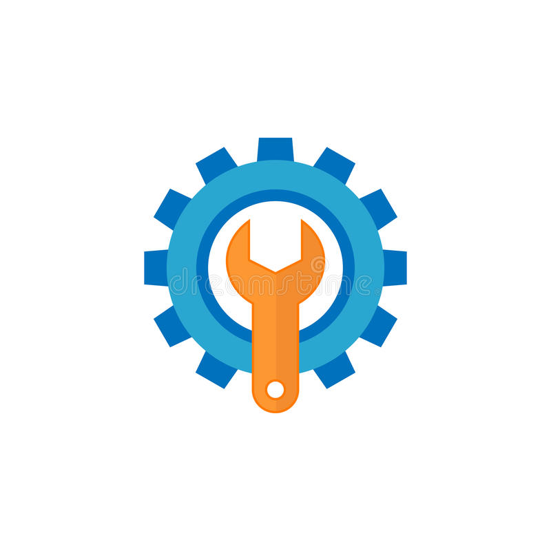 Technical support flat icon. Seo and development, repair service, a colorful solid pattern on a white background, eps 10 stock illustration
