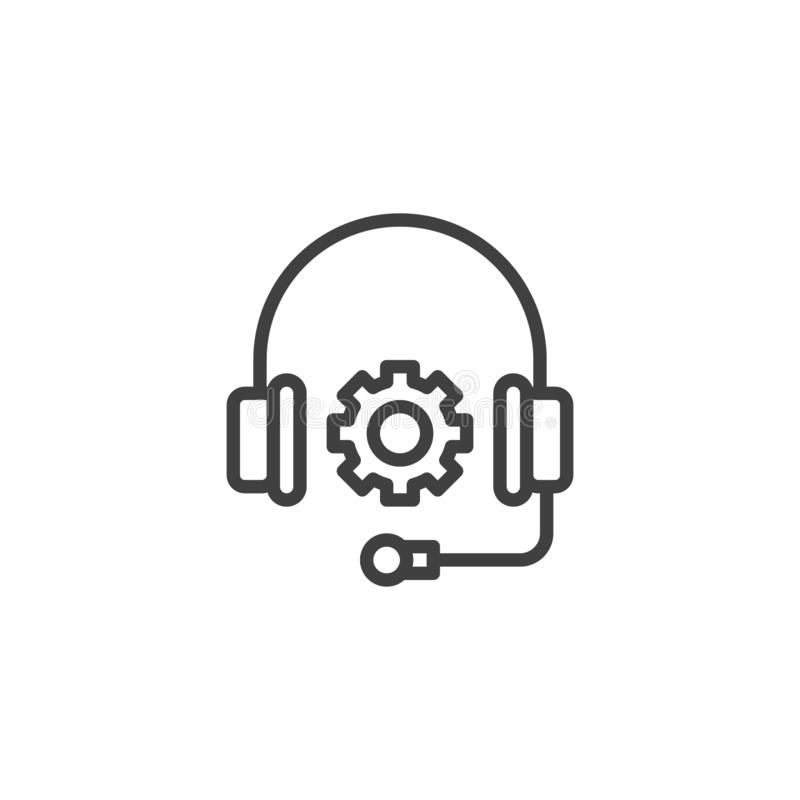 Technical Support line icon royalty free illustration