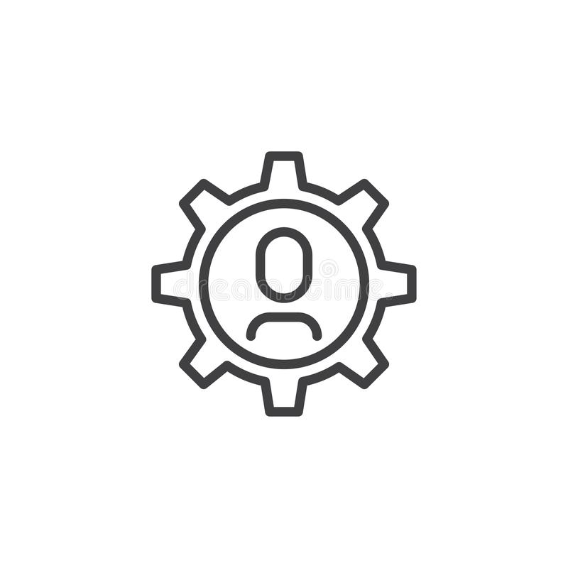 Technical support outline icon stock illustration