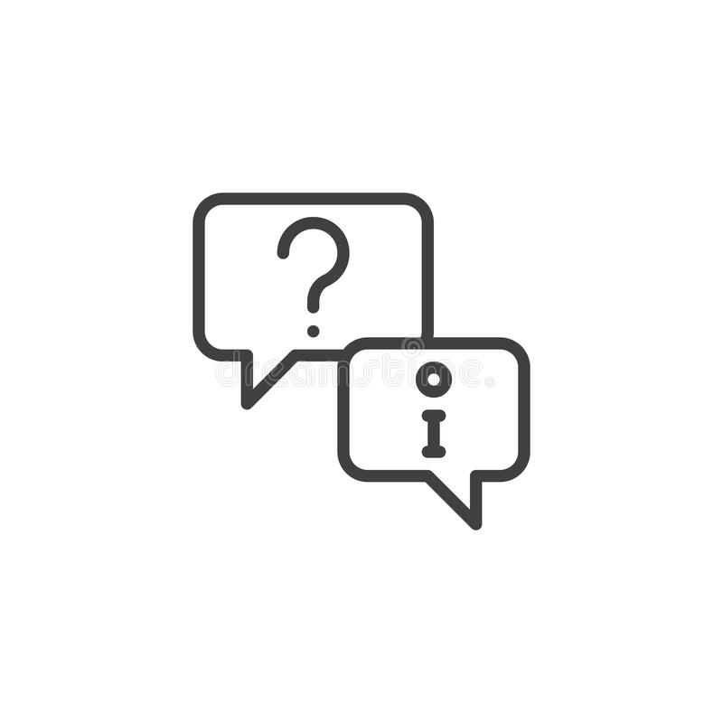 Technical support question outline icon royalty free illustration