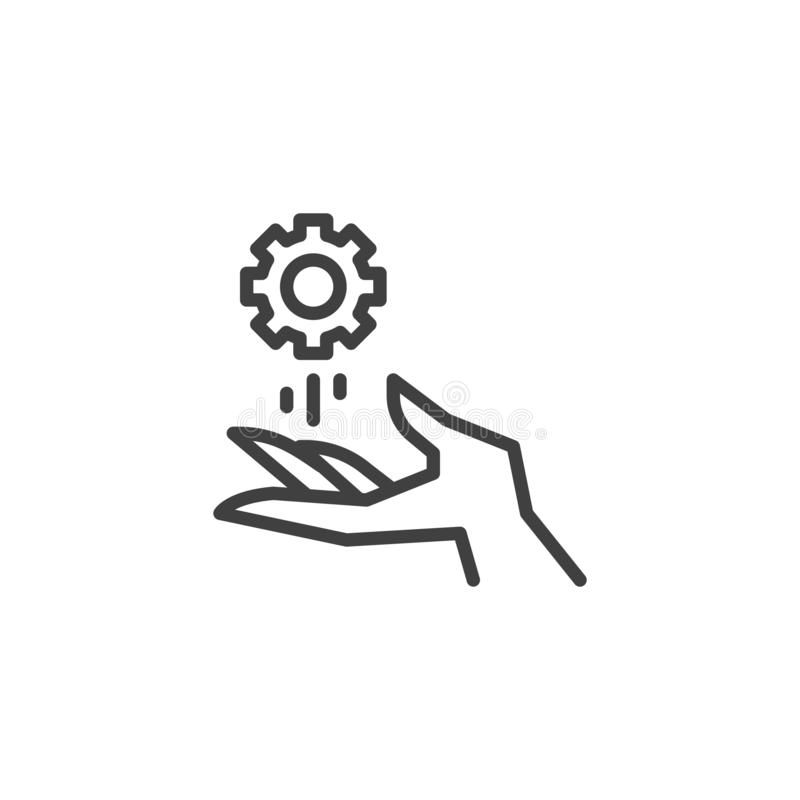Technical support service line icon royalty free illustration