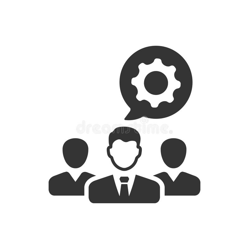 Technical Team Icon. Beautiful Meticulously Designed Technical Team Icon stock illustration