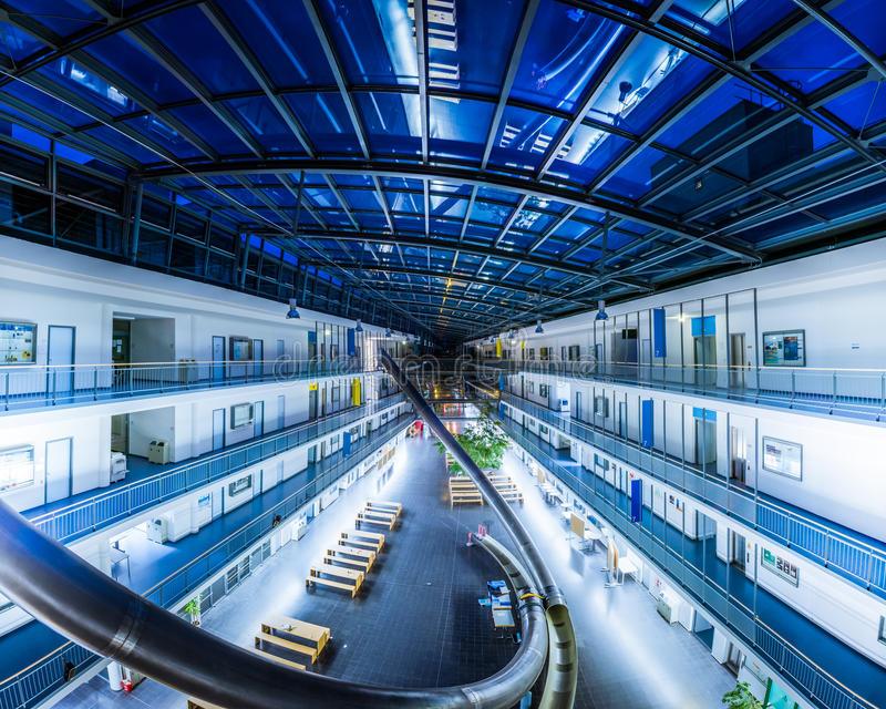Technical University Munich Germany Education Information Computer Technology Building Department Interior Architecture October 2. 3 2016 royalty free stock image