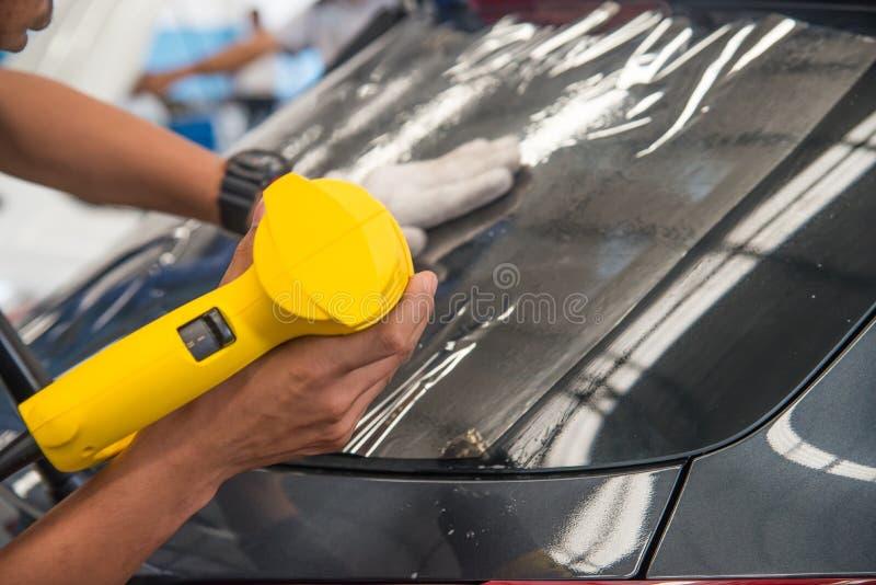 Technicians automotive films. stock images