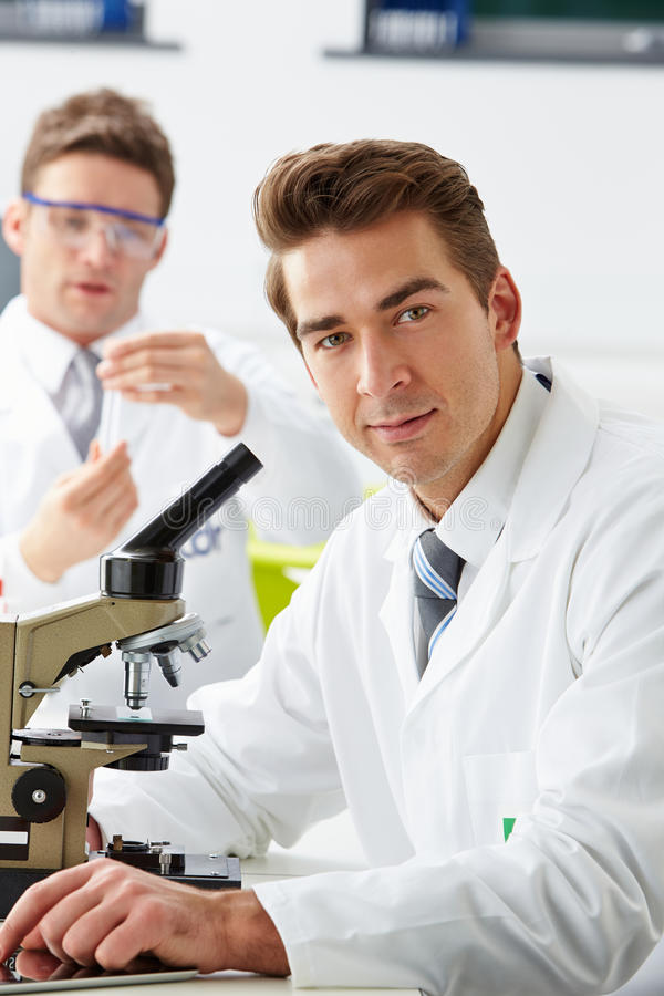 Technicians Carrying Out Research In Laboratory royalty free stock photography