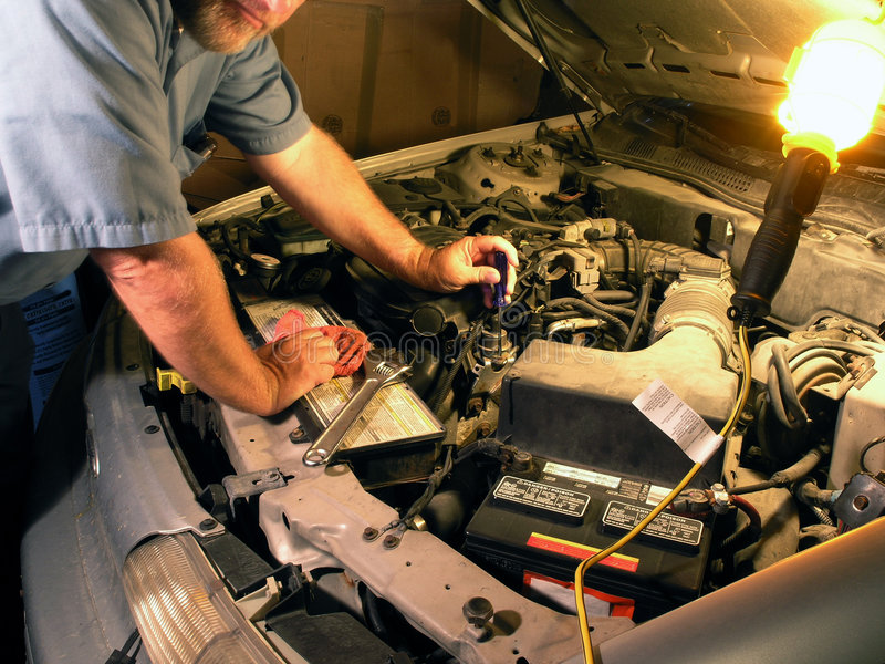 Technicien automobile photo stock