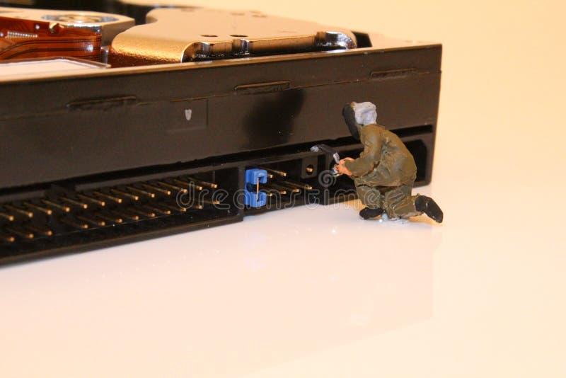 Technicien d'ordinateur images stock