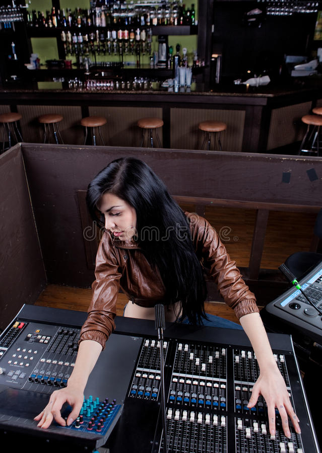 Technicien de Soundboard photos libres de droits