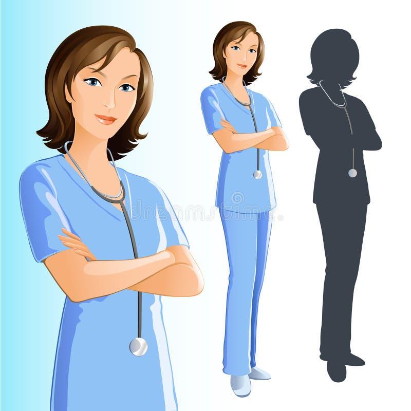 Technicien (femme) illustration de vecteur