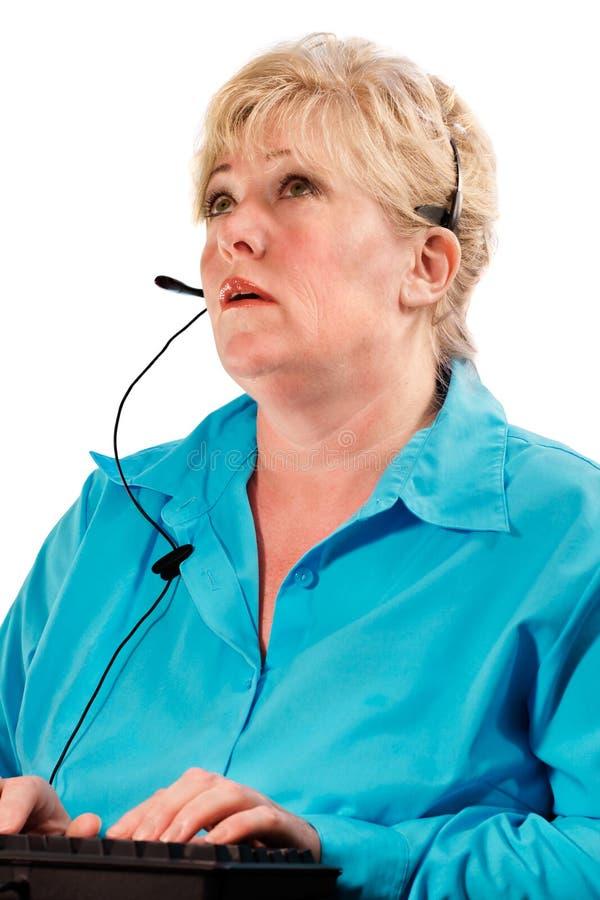 Technicien mûr de femme image libre de droits