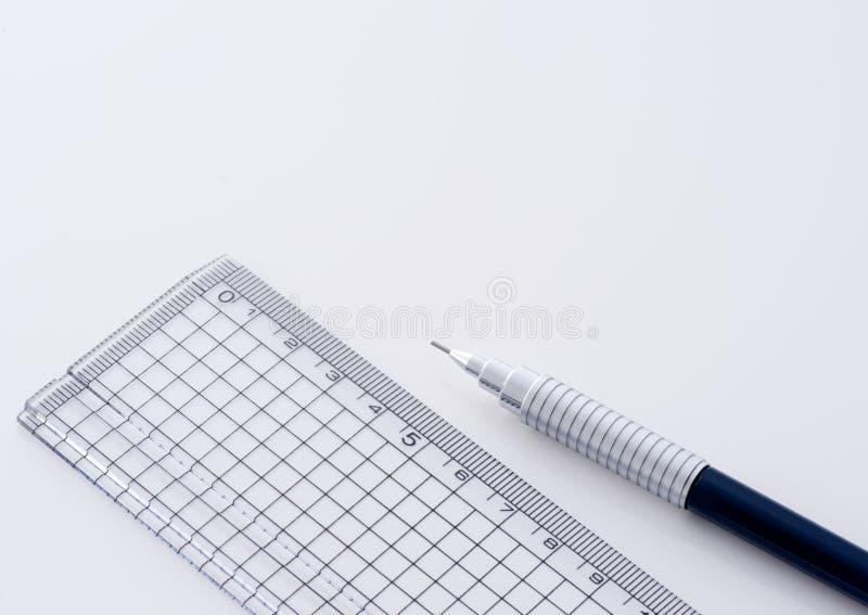 techniczna ołówkowa władca fotografia stock