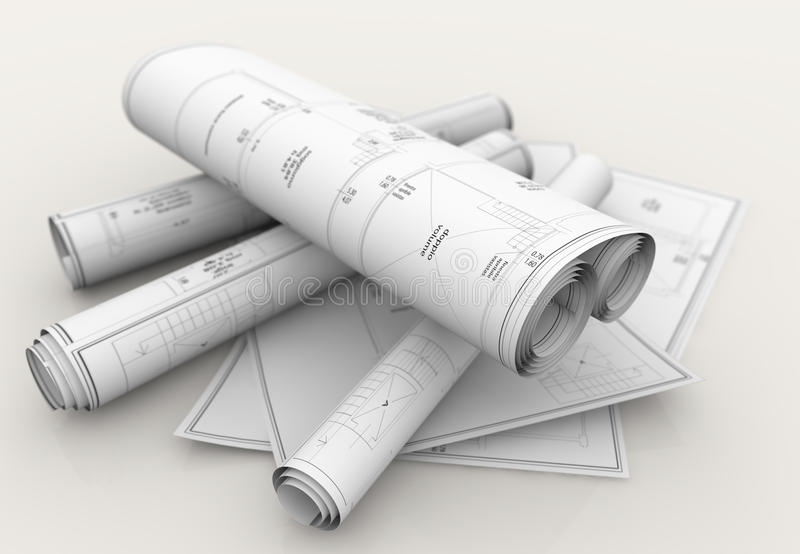 Techniczni projekty royalty ilustracja