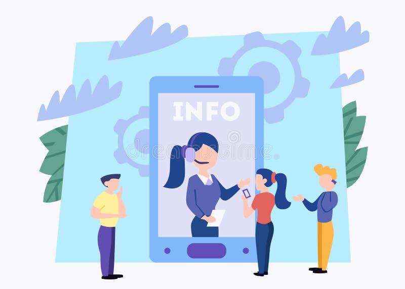 techniczny pojęcia poparcie Pomysł obsługa klienta Kobiety poparcia klienci i pomagają one z problemami ilustracji