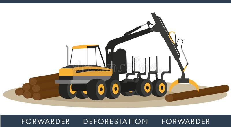 Techniczny wyposażenie dla ciąć drewna royalty ilustracja
