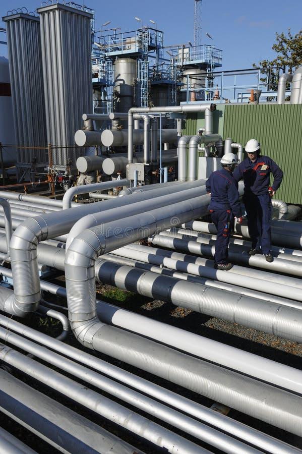 Techniek en de olieindustrie stock foto