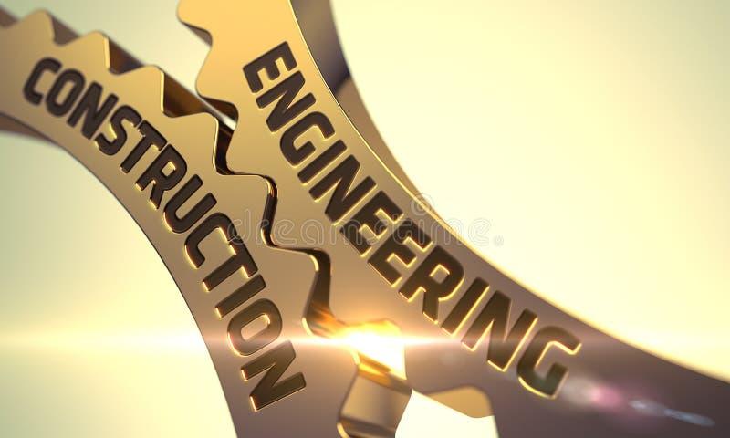Techniekbouw op Gouden Metaaltoestellen 3d stock illustratie