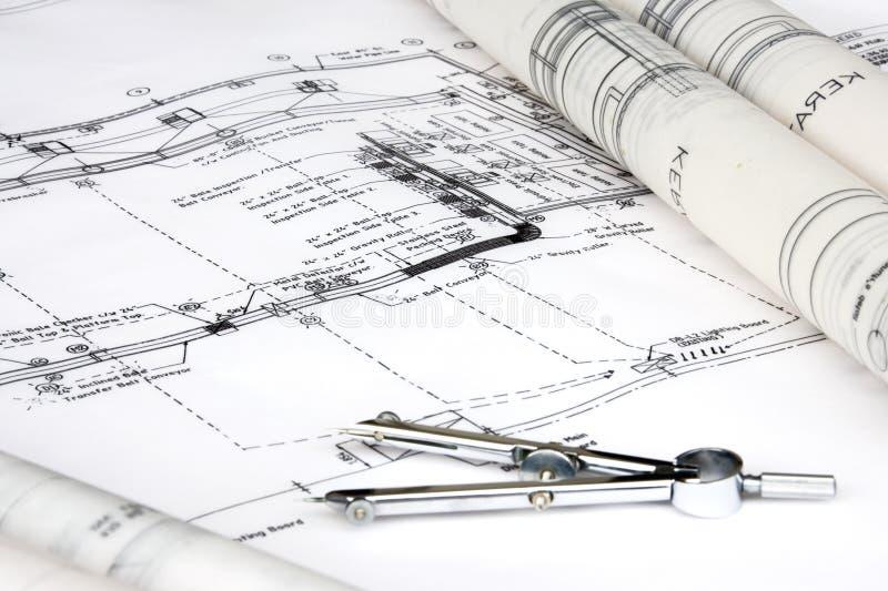Technik-Auslegung und Zeichnung stockfoto