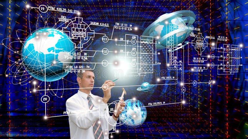 Technik, Verbindung tecnology entwerfend stockbilder