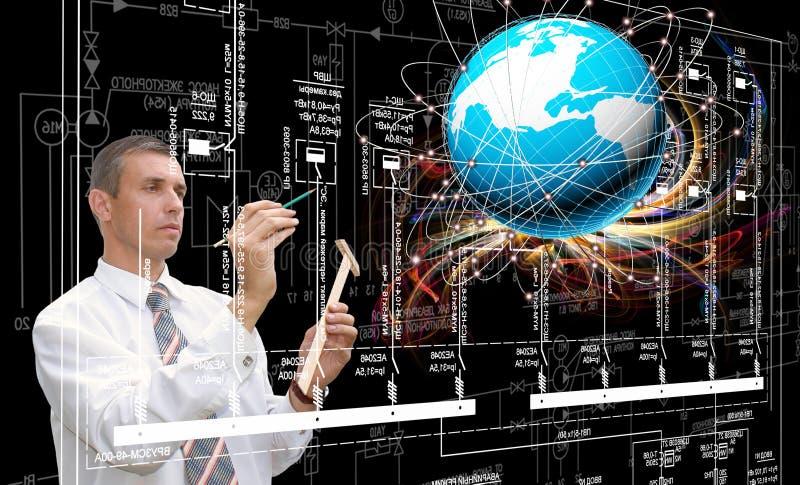 Technik, Verbindung tecnology entwerfend stockfotografie
