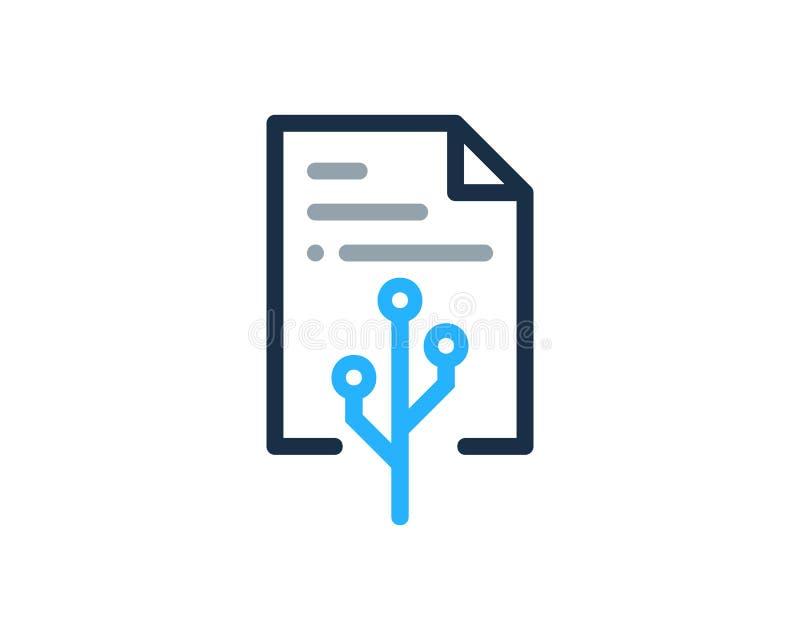 Technika dokumentu ikony loga projekta element ilustracja wektor