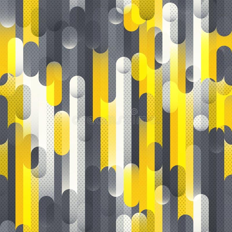 Technika geometryczny bezszwowy wzór ilustracji