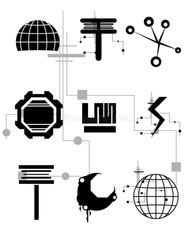 technika ikony royalty ilustracja