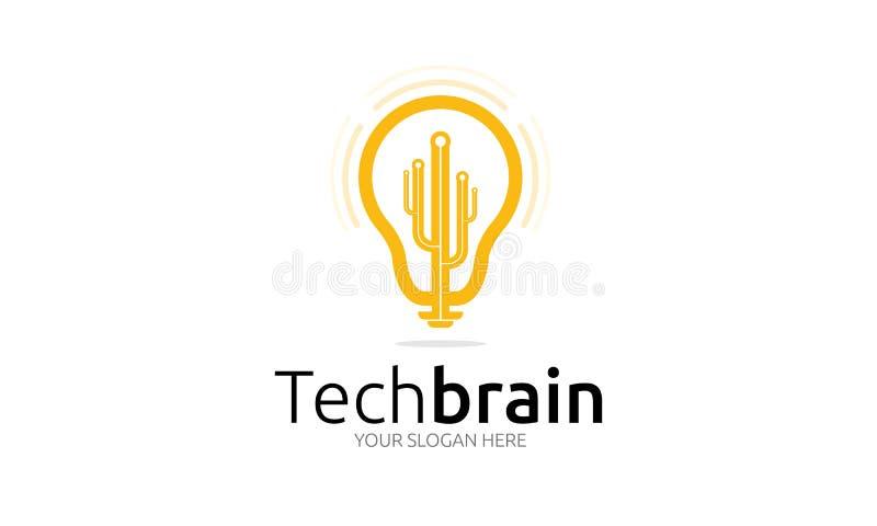 Technika mózg logo royalty ilustracja