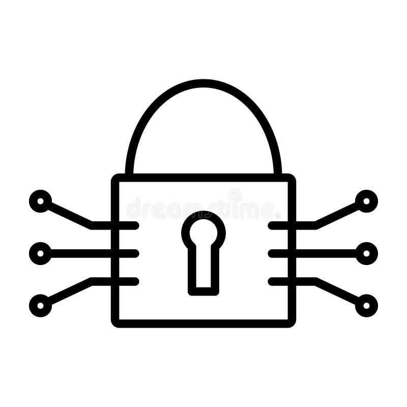 Technika obwodu kędziorka linii ikona Wektorowy Prosty Minimalny 96x96 piktogram ilustracji
