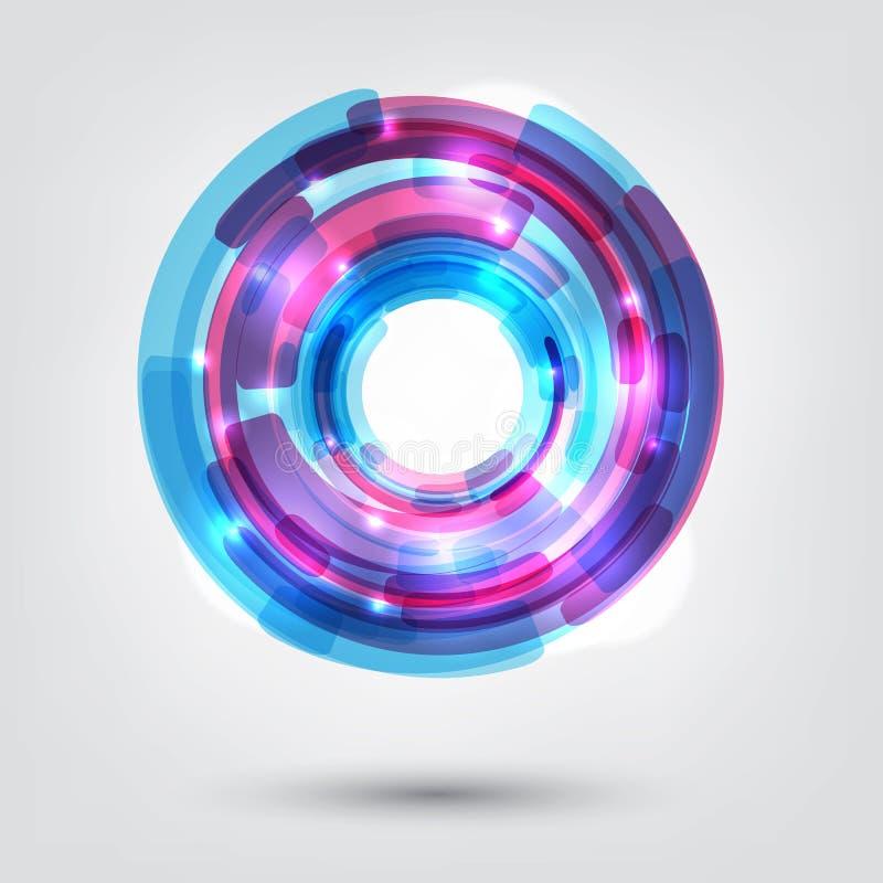 Technika projekta okrąg ilustracji