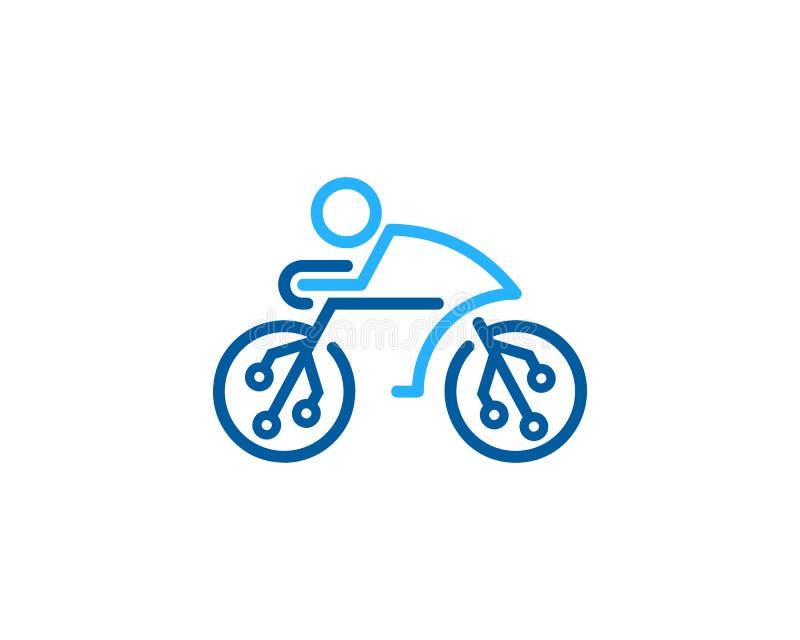 Technika roweru cyklu ikony loga projekta element ilustracja wektor