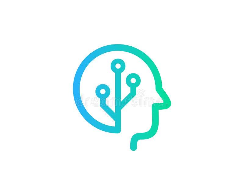 Techniki ikony loga projekta Móżdżkowy element royalty ilustracja