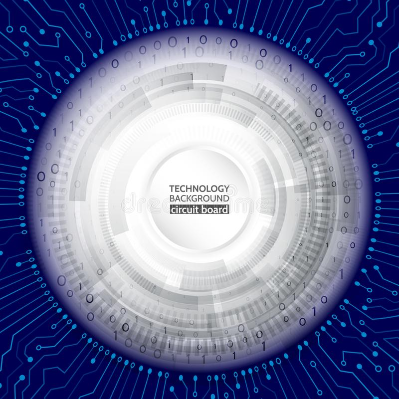 Techniki informatyka na błękitnym tle royalty ilustracja