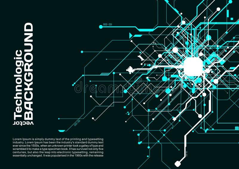 techniki technologii absract tła cyberpunk fantastyka naukowa styl ilustracja wektor