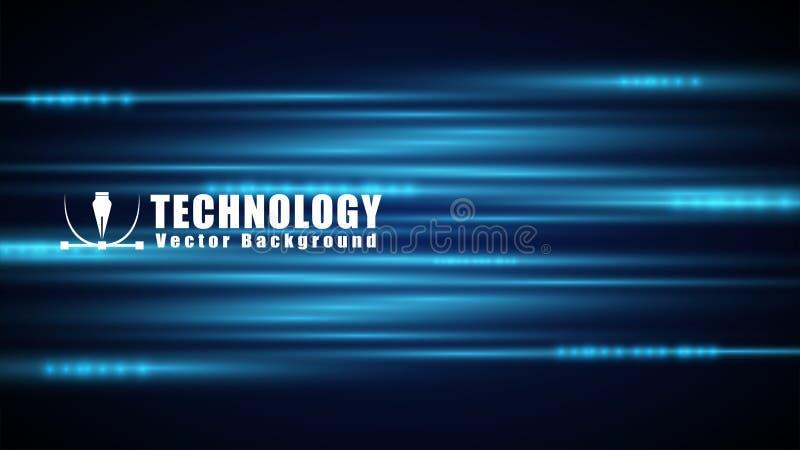 techniki technologii wektorowy tło, prędkości połączenie z internetem, futurystyczny elementu ruchu tło royalty ilustracja