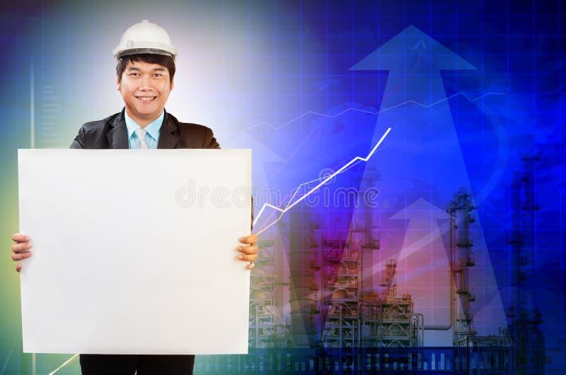 Technikmann und Arbeitsplatzanforderungsgeschäft stockfoto