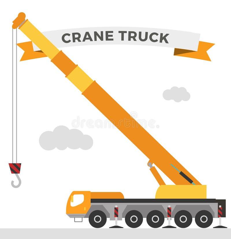 Techniques en construction de construction de machine de grue illustration stock