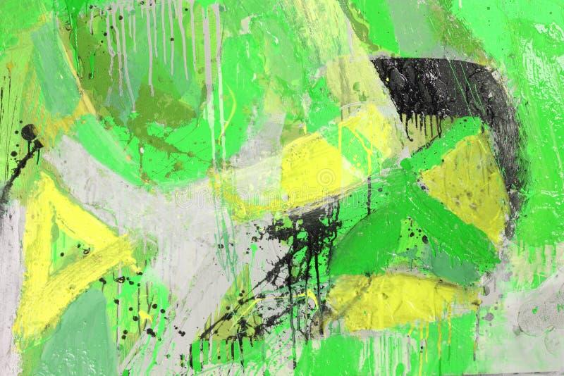 Techniques mélangées, peinture abstraite photo libre de droits